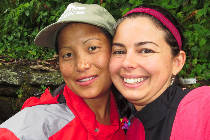 My porter and I along the Ghorepani Poon Hill Trek