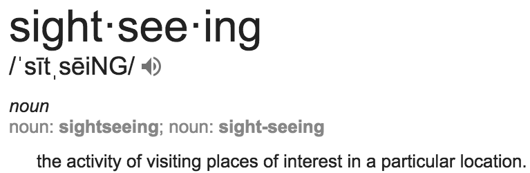 sightseeing definition