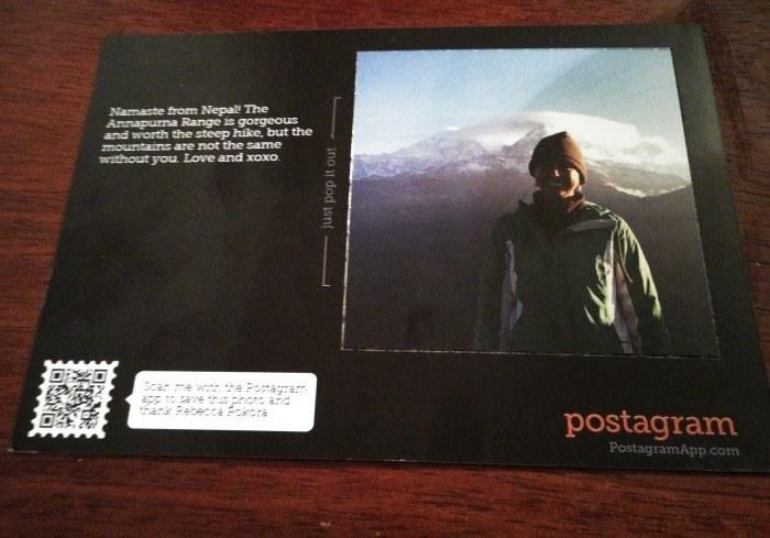 Postagram postcard app nepal