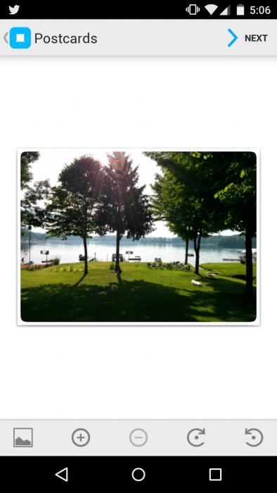 touchnote postcard app screenshot