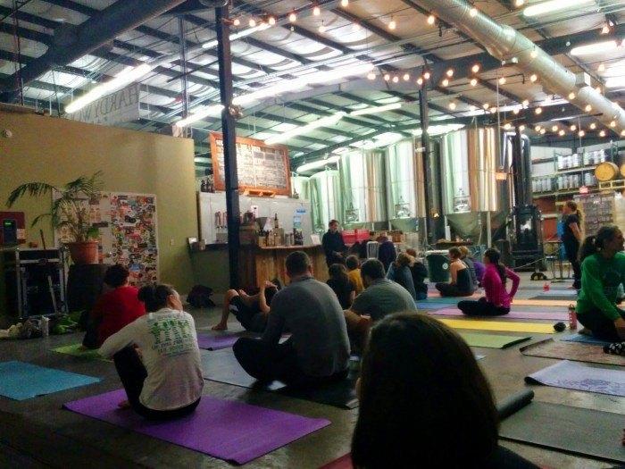 yoga brewasana hardywood brewery richmond va