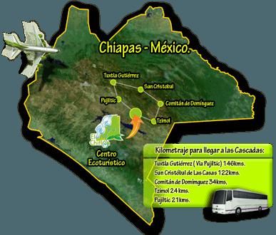 el chiflon waterfalls map
