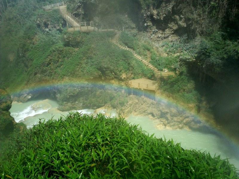 Rainbow Falls at Cascadas el Chiflon, Chiapas