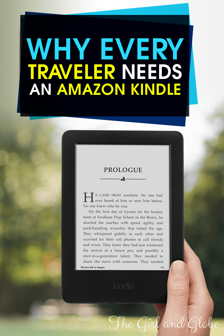 The Amazon Kindle is perfect for travel since its lightweight and easy to read. Find out how it actually saves you money!