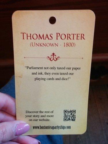 thomas porter boston tea party museum