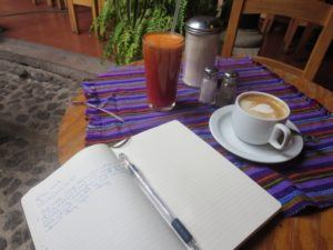 notebook on how to choose a spanish school in Guatemala