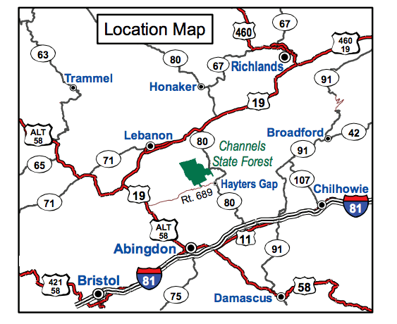 map channels state forest virginia