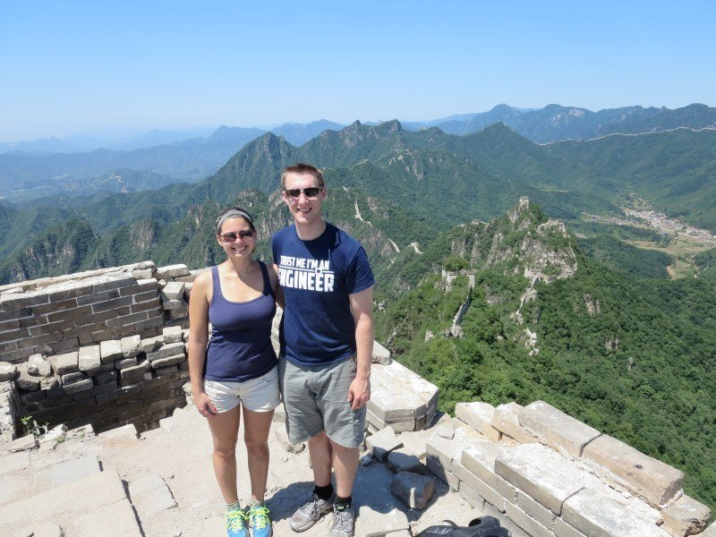 Ridgeline near Jiankou, Great Wall of China