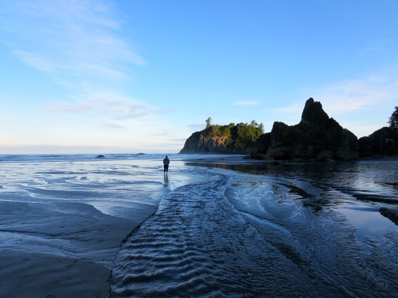 morning at ruby beach olympic national park