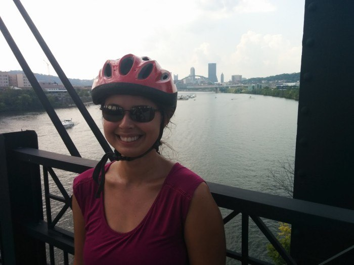 biking hot molten bridge pittsburgh