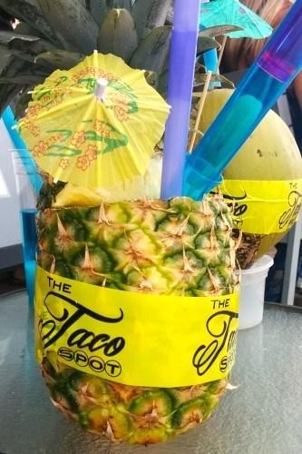 Pina Colada at Taco Spot on Hollywood Beach FL