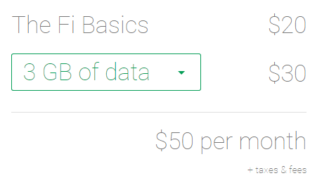 google project fi rates
