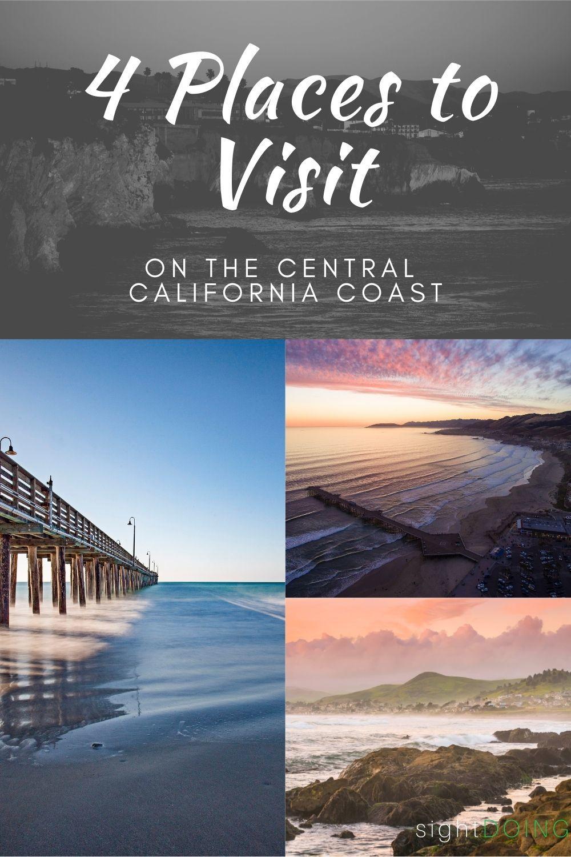 pinterest title graphic for central california coast destinations