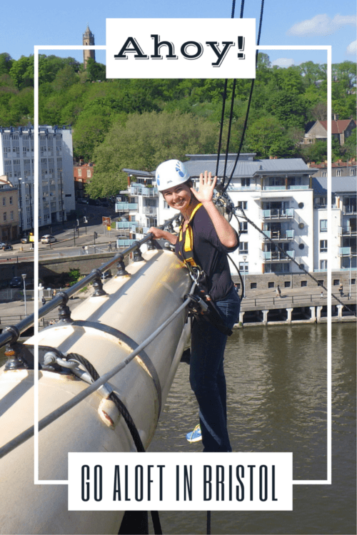 The Go Aloft tour on the ss Great Britain (Bristol England) lets you climb a ship rigging for an interactive museum experience.