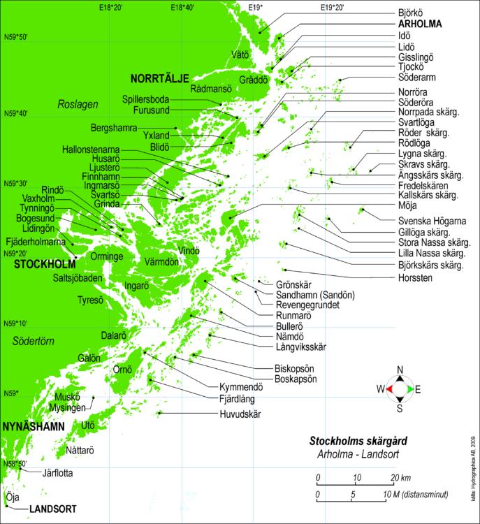 stockholm archipelago map
