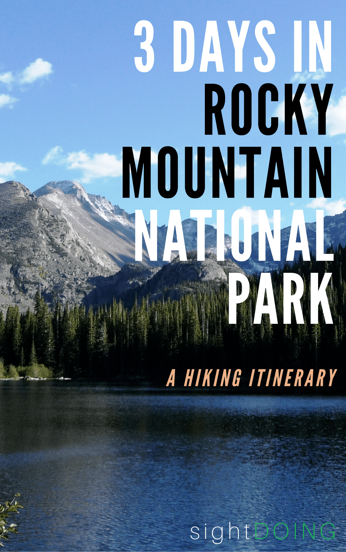 Go hike in Colorado! Rocky Mountain National Park (outside Denver near Estes Park) has great hiking. This 3-day itinerary will help you plan your trip as long as you love to trek.