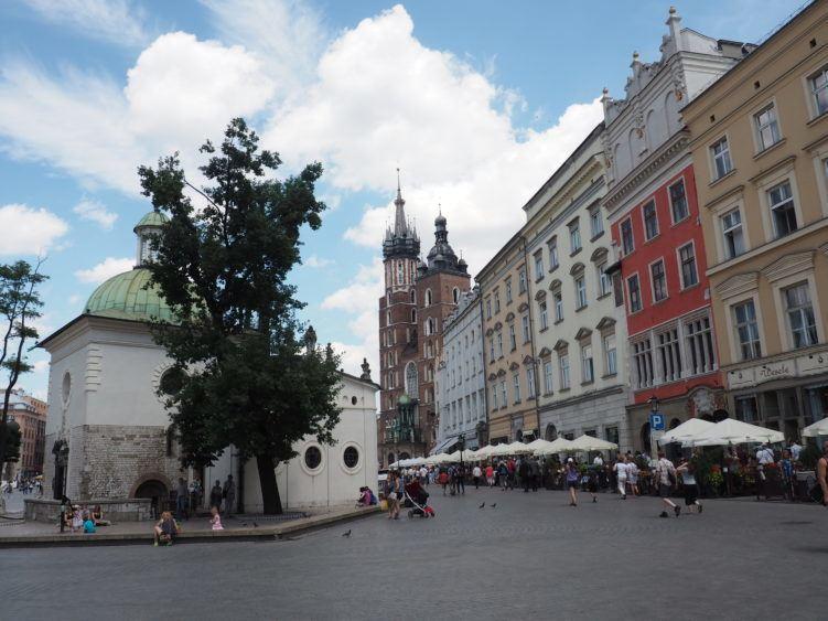 Walking through Old Town Krakow