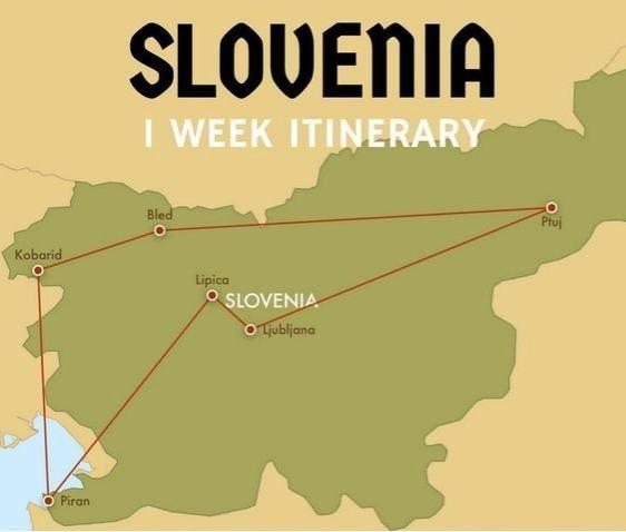 slovenia itinerary map