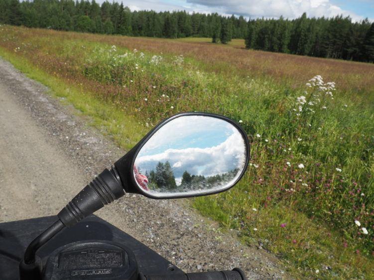 Returning to Svansele's entrance by ATV