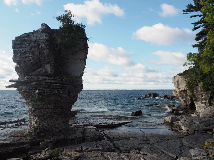 flowerpot island canada rock formations