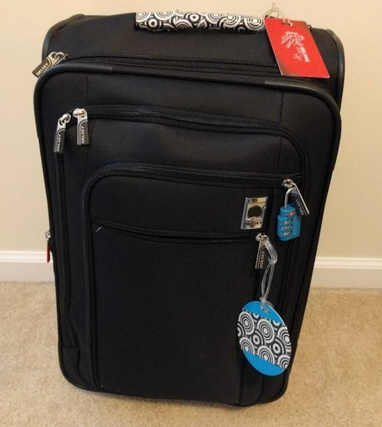 My carry-on suitcase a Delsey Helium Sky