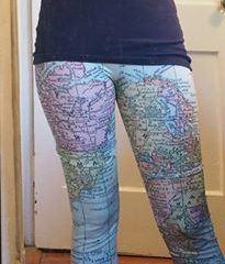 map leggings for her