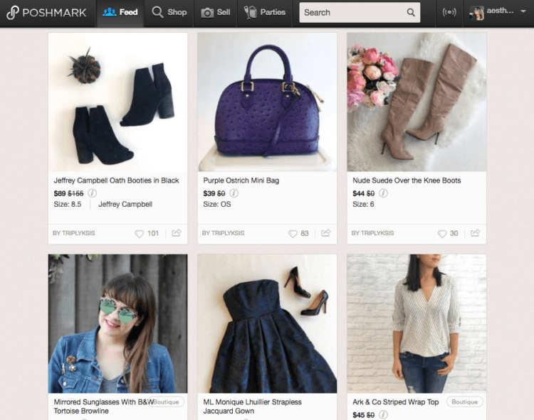 The Poshmark feed is a marketplace full of activity!
