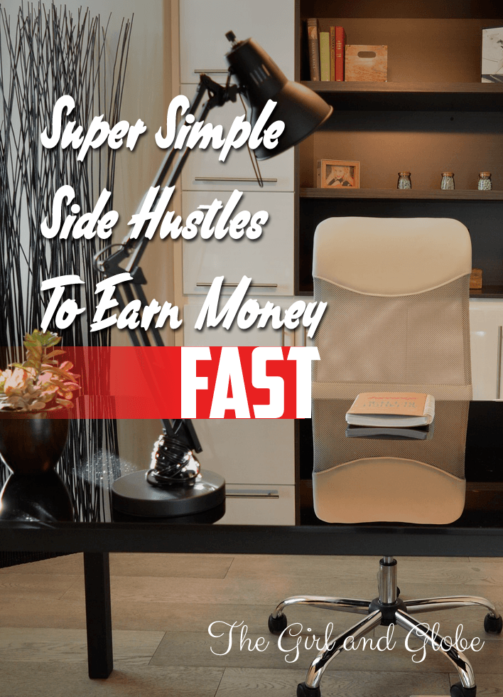 Earn money fast with a side hustle! Perfect as a way to earn money for traveling or to save up for other big purchases without a big time commitment.