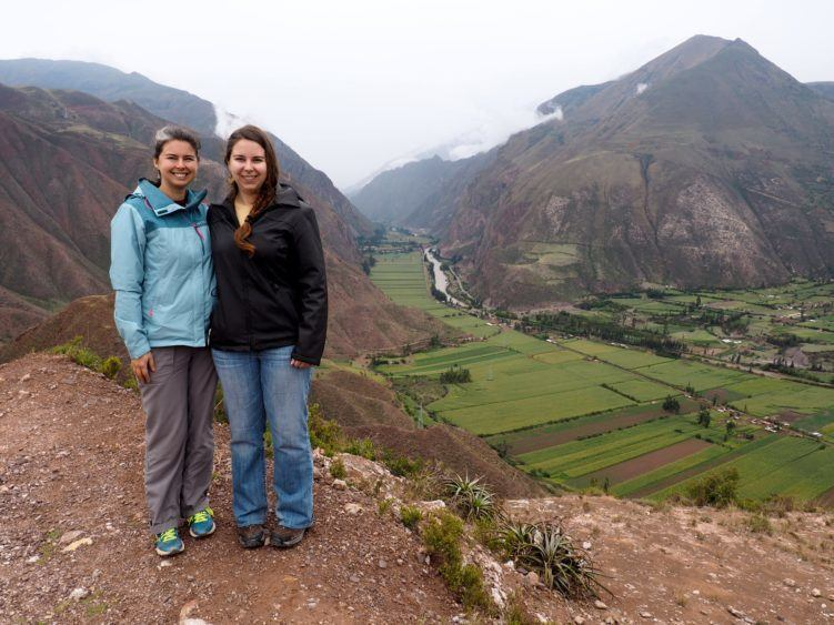 posing at ollantaytambo vista as first step to acclimate to cusco altitude