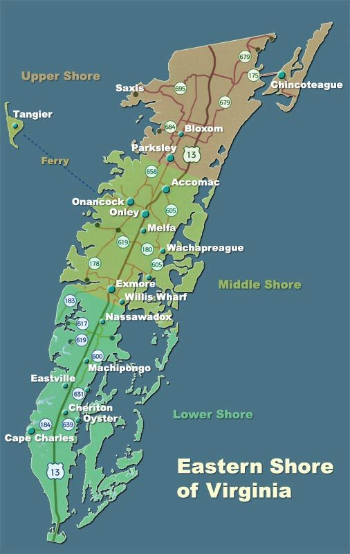 virginia eastern shore map
