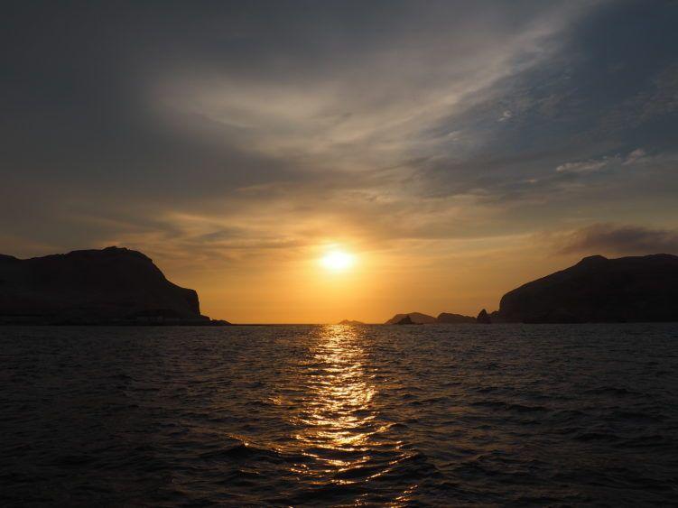 islas palomino peru sunset