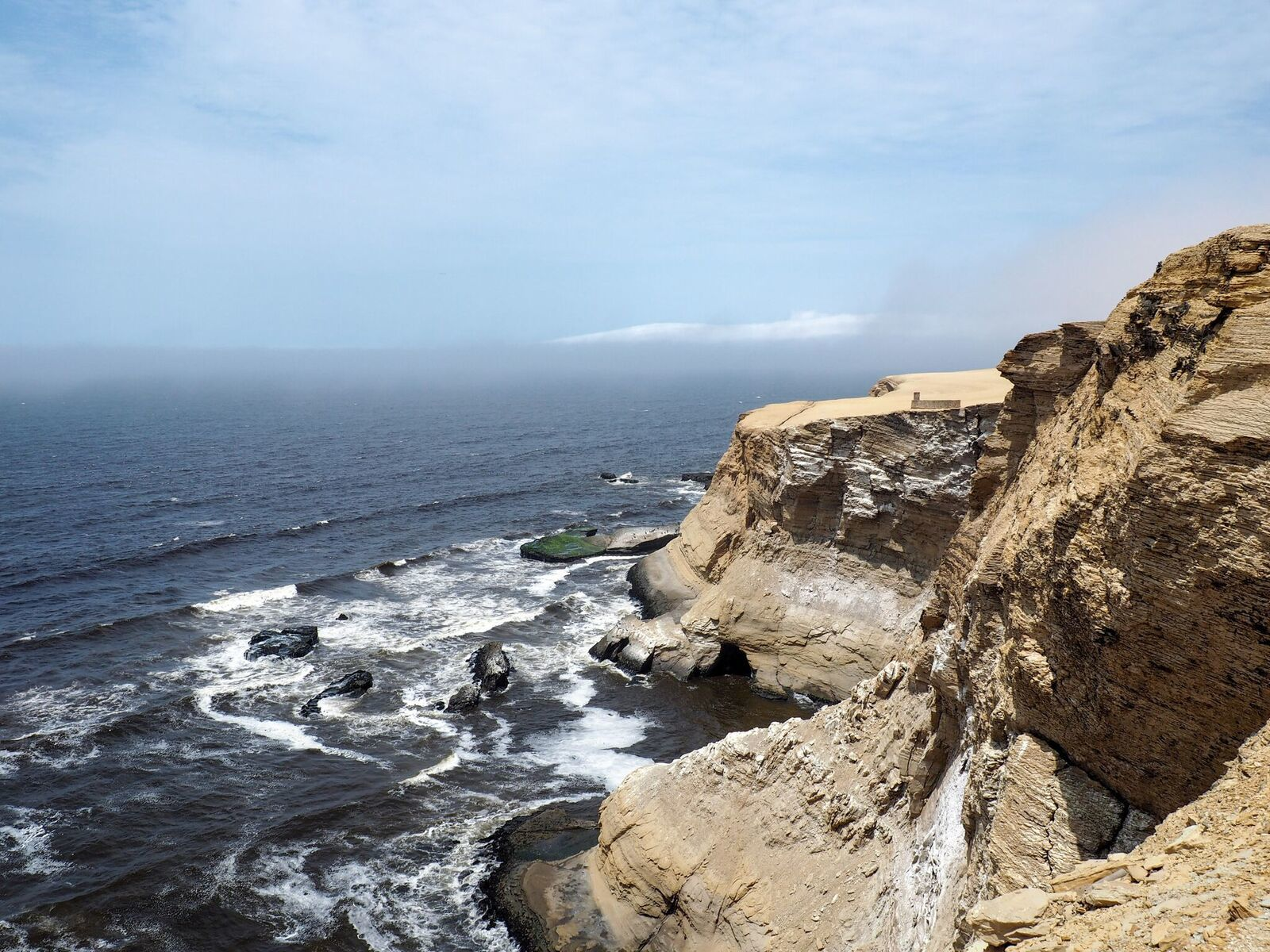 Cliffs in Paracas National Reserve