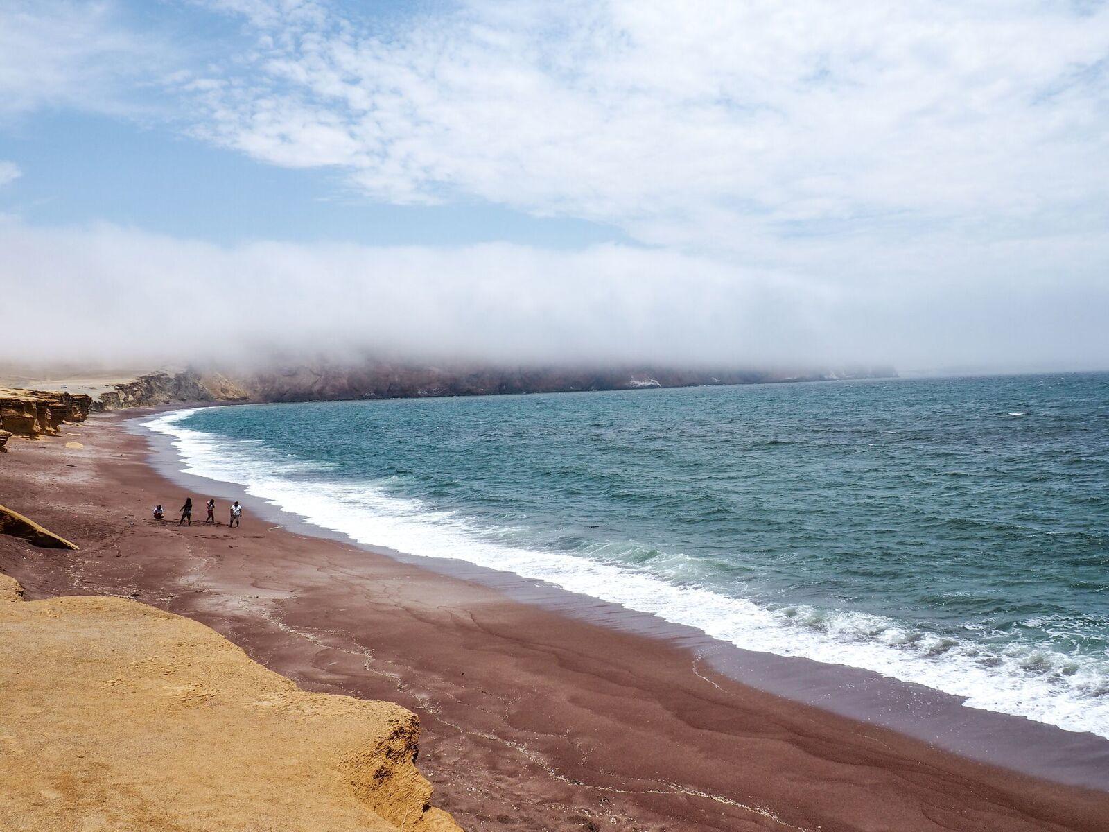 paracas red beach