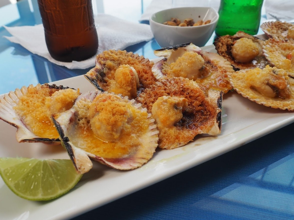 Scallops in a Paracas Restaurant