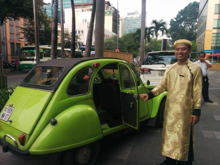 Vintage car private transfer