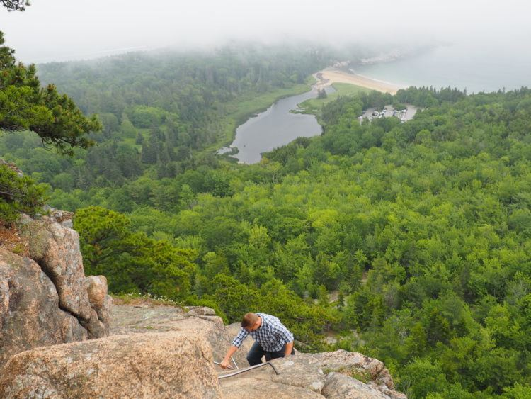 Along the Beehive trail, one of my favorite hikes in Acadia National park