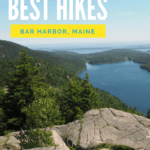 Go hiking in Acadia National Park Maine! I tried 18 miles of hikes in Acadia so that I could narrow it down to the BEST ones for you. There's something for everyone - coastline, mountains, forests, and even iron rungs up the mountainside.