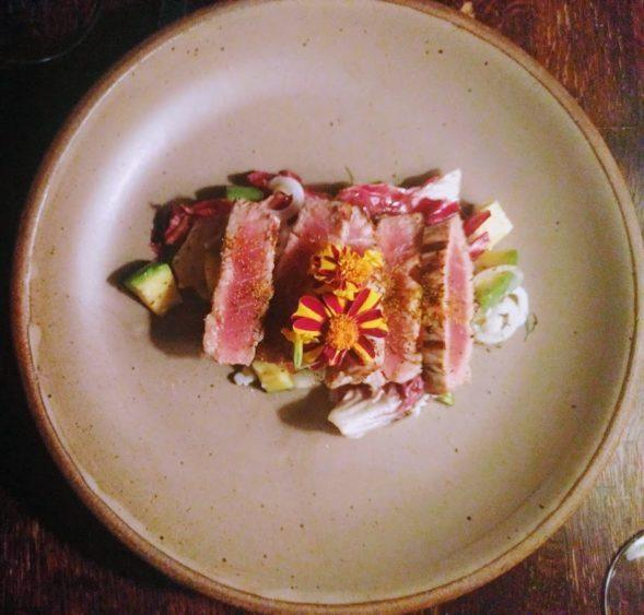 Seared tuna at Cucina 24, as delicious as it looks. As expected at one of Asheville's best restaurants!