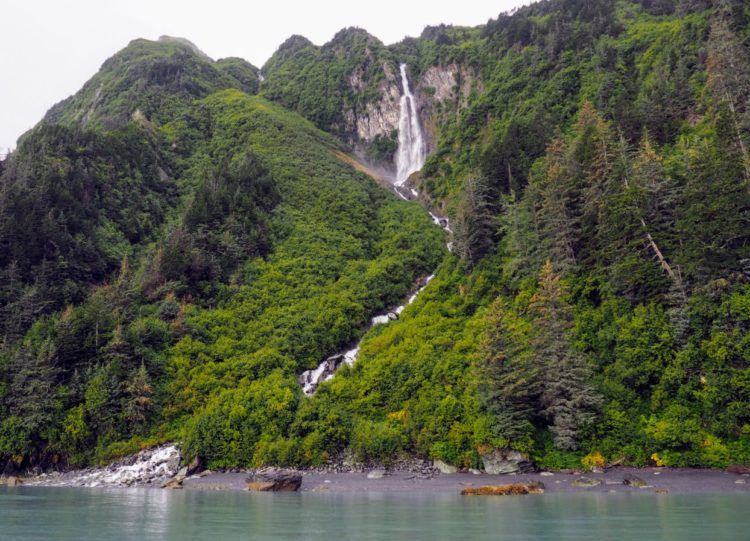 waterfalls in prince william sound