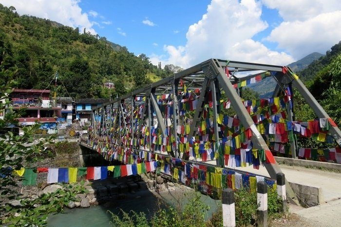 Bridge at the start of the Ghorepani Poon Hill Trek