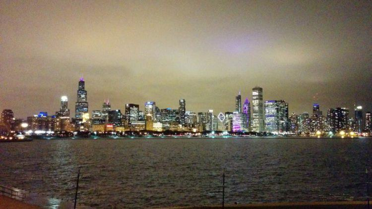 unique things to do in chicago bike ride at night skyline