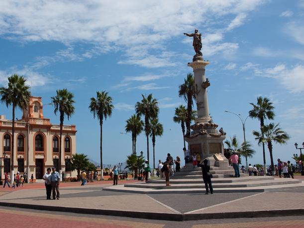 plaza miguel grau in callao, peru