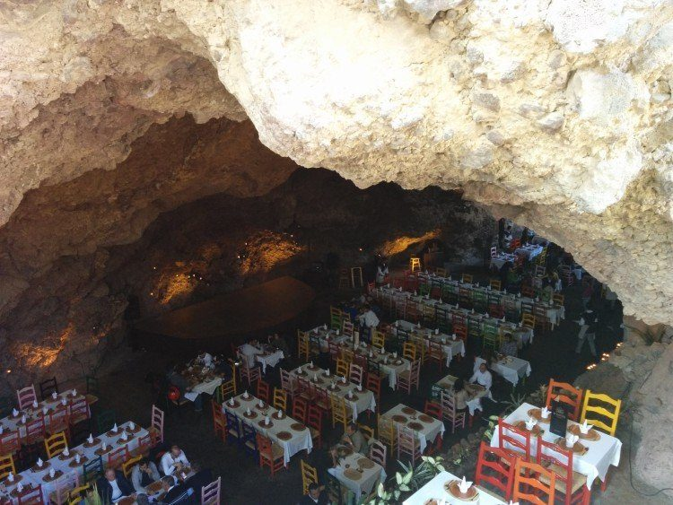 Inside La Gruta cave restaurant near teotihuacan