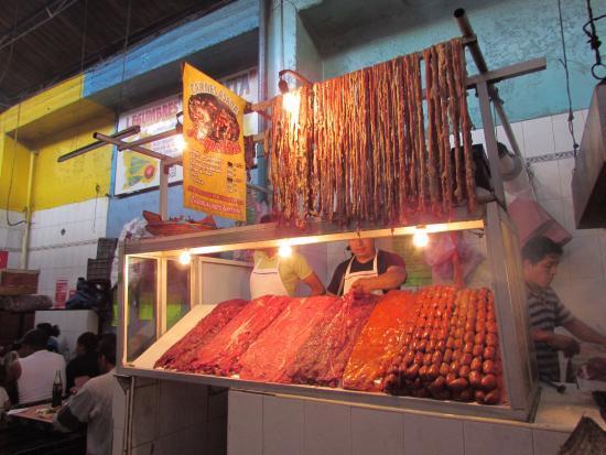 carne asadas mercado 20 de noviembre oaxaca mexico