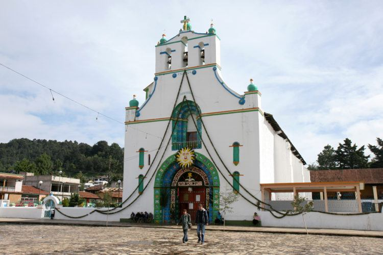 The church in San Juan Chamula Chiapas