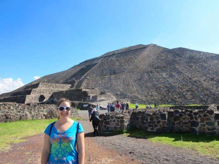 At the base of Pyramid of the Sun, Teotihuacan
