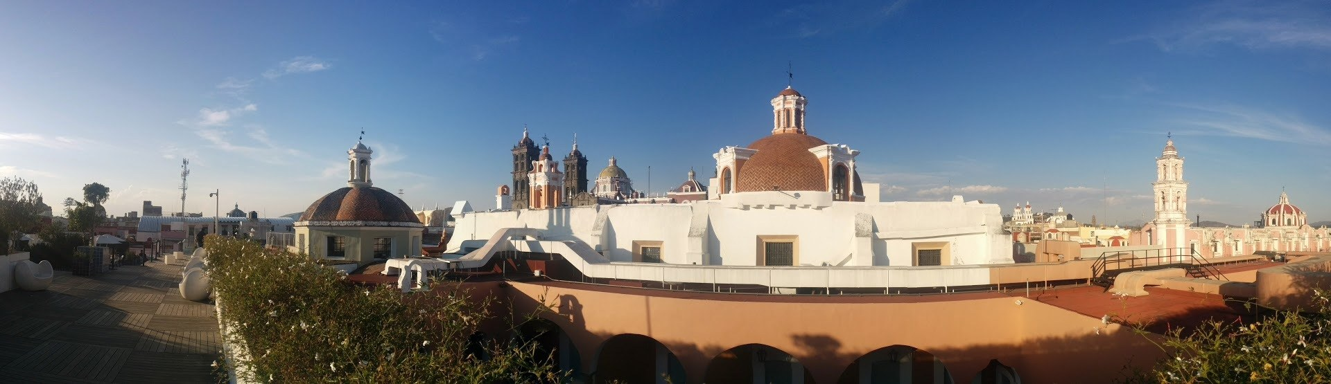 Rooftop view of Puebla
