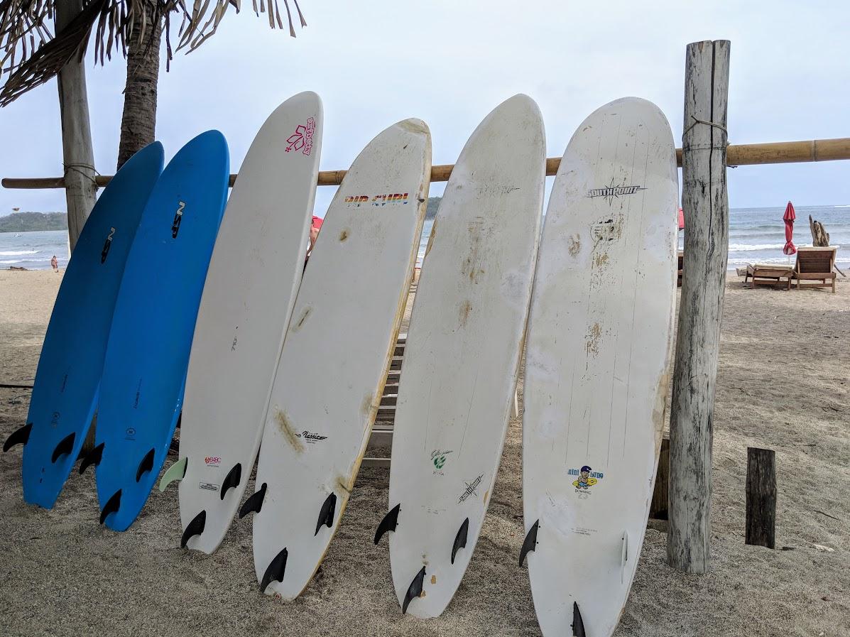 surfboards on samara beach