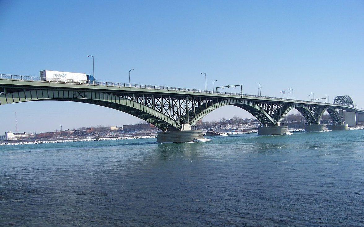The Peace Bridge to Canada