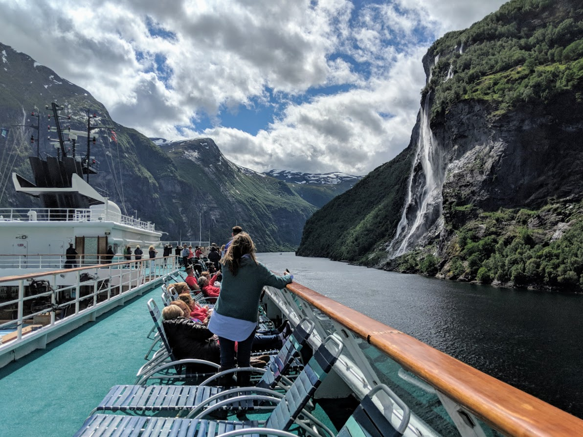 Scenic Cruising through Geiranger Fjord